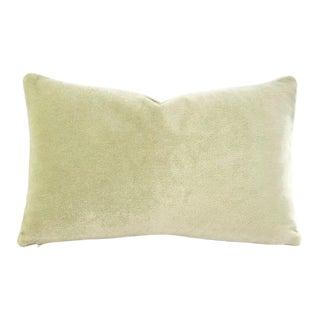 "12"" X 19.5"" Honeydew Light Mint Green Mohair Velvet Lumbar Pillow Cov For Sale"