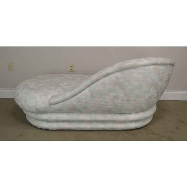 1990s Carsons Inc. Post Modern Upholstered Chaise Lounge For Sale - Image 5 of 13
