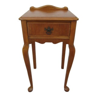 Queen Anne Style Tall Nightstand For Sale
