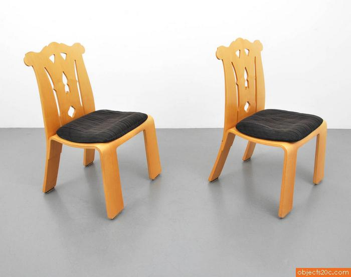 Pair of Robert Venturi u201cChippendaleu201d Chairs - Image 4 of 6  sc 1 st  Decaso & High-End Pair of Robert Venturi u201cChippendaleu201d Chairs | DECASO