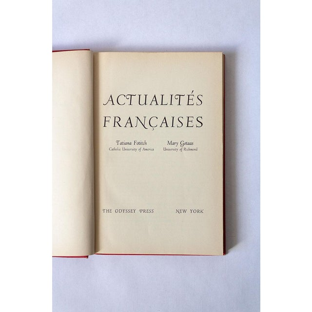 """1950s """"Actualites Francaises"""" French School Book For Sale - Image 5 of 12"""