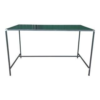 Vintage Industrial Minimalist Steel Table For Sale
