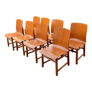 Vintage Modern Moulded Plywood Chairs - Set of 8 For Sale