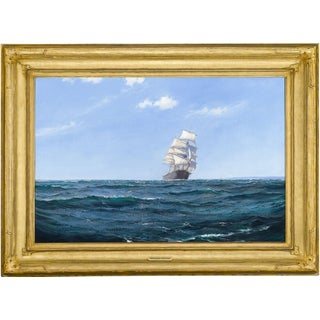 A Ship in Open Water by Montague Dawson For Sale