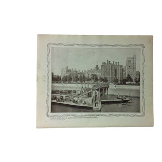 """1906 """"Lambeth Palace - With St. Mary's Church - From Suspension Bridge"""" Famous View of London Print For Sale"""