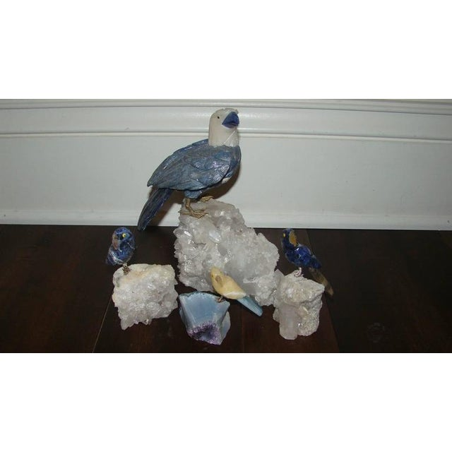 Quartz Crystal & Gemstone Bird Sculptures- Set of 4 - Image 2 of 8