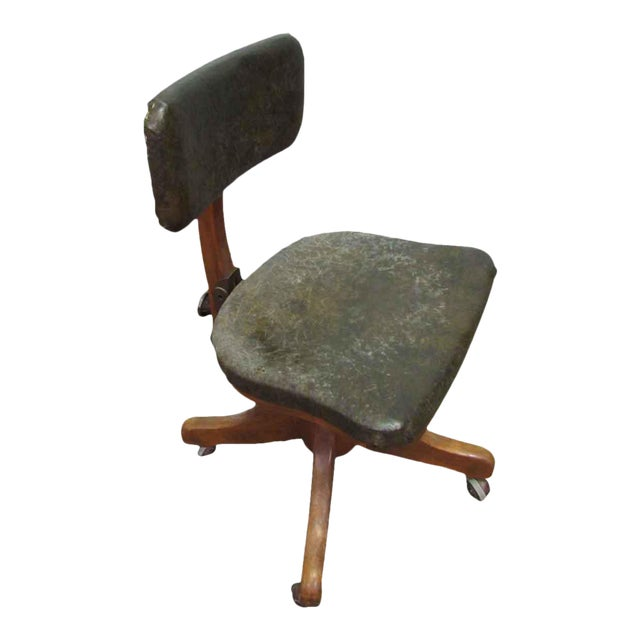 Wooden Adjustable Desk Chair - Image 2 of 11