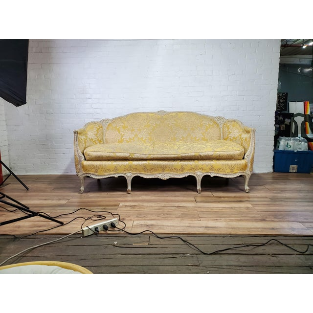 1930s Antique Victorian French Louis XV Style Couch For Sale - Image 13 of 13