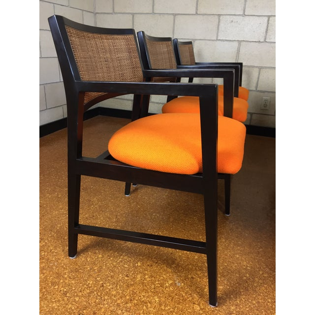Edward Wormley for Dunbar Dining Arm Chairs - Set of 6 - Image 3 of 11