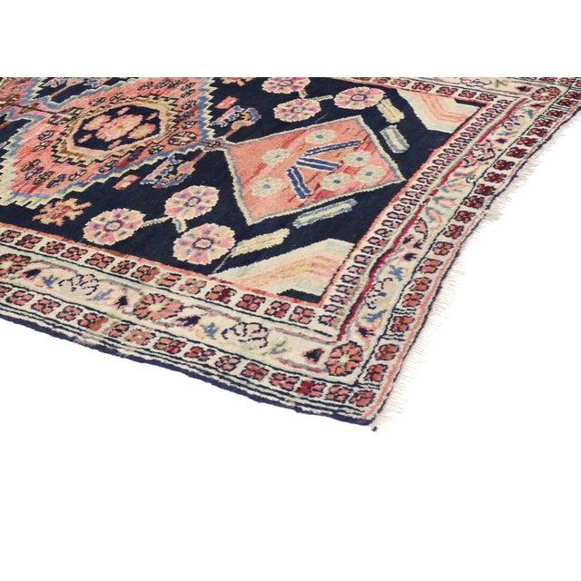 Vintage Persian Mahal Tribal Runner - 2'11 X 6'1 - Image 2 of 3