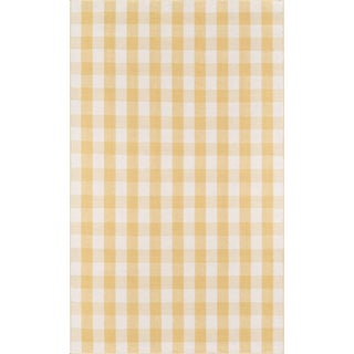 "Madcap Cottage Highland Fling a Scotch Please Gold Area Rug 5' X 7'6"" For Sale"