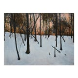 """Image of Stephen Remick, """"Sunrise in the Snowy Woods"""", Contemporary Painting For Sale"""