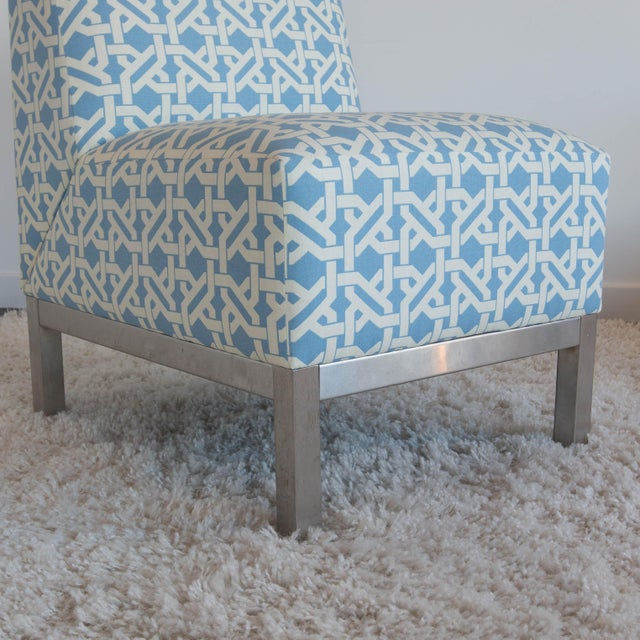 Pair of Modern Slipper Chairs - Image 4 of 6