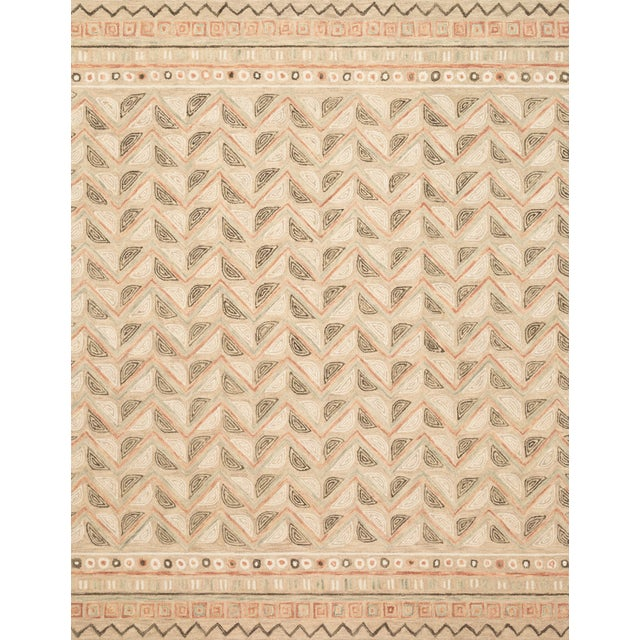 "Loloi Rugs Priti Rug, Taupe / Multi - 5'0""x7'6"" For Sale"