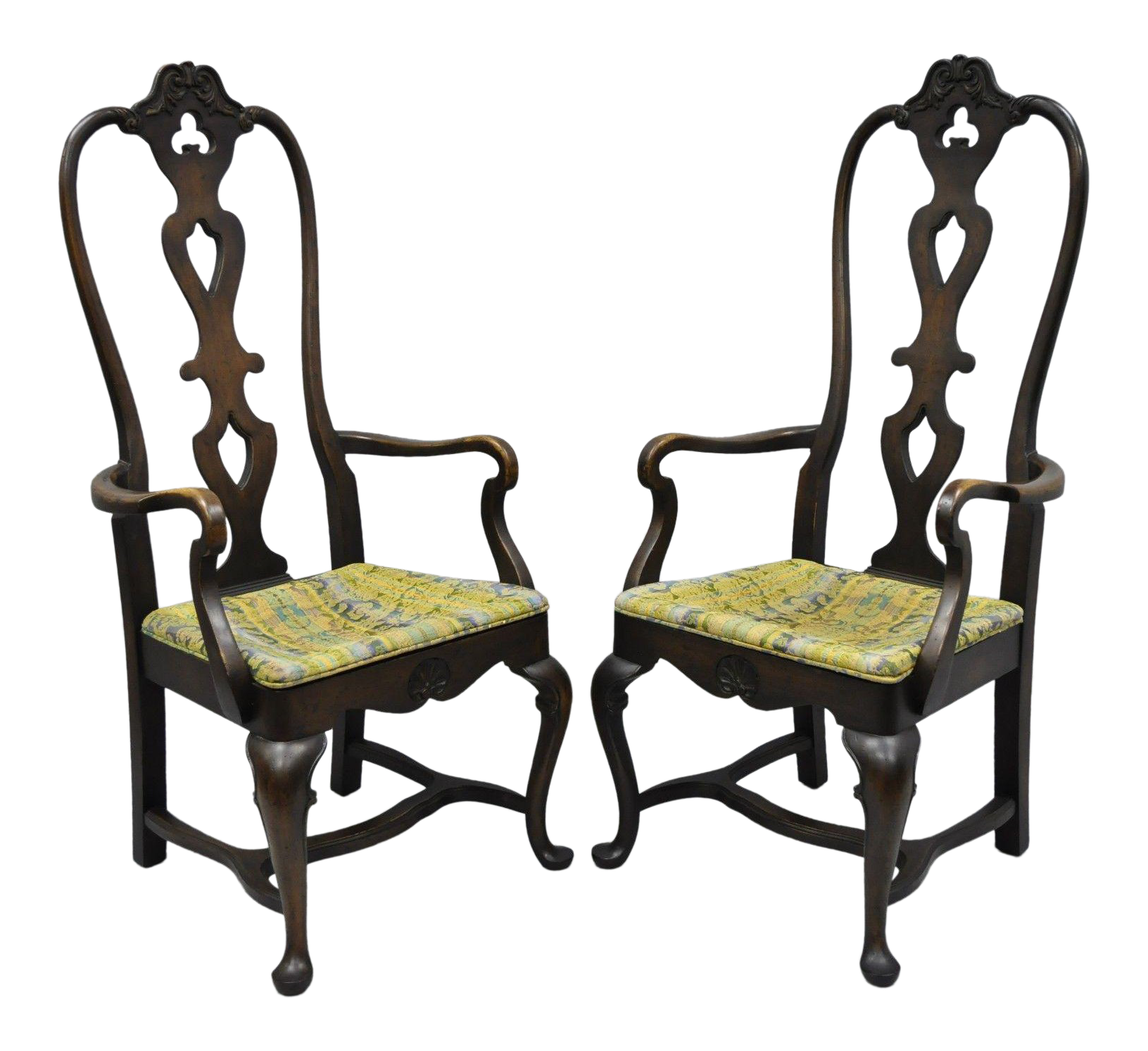swedish style dining chairs high back italian baroque swedish rococo style dining armchairs pair