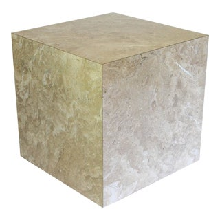 Vintage Faux Stone Accent Table For Sale