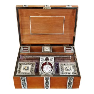 19c Anglo Indian Vizagapatam Gentleman's Casket or Necessaire