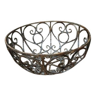 Large Decorative Iron Bowl For Sale