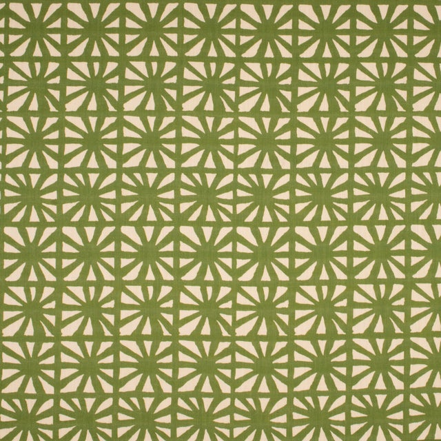 Mid-Century Modern Justina Blakeney Monterey Printed Cotton and Linen Fabric, Lawn For Sale - Image 3 of 3