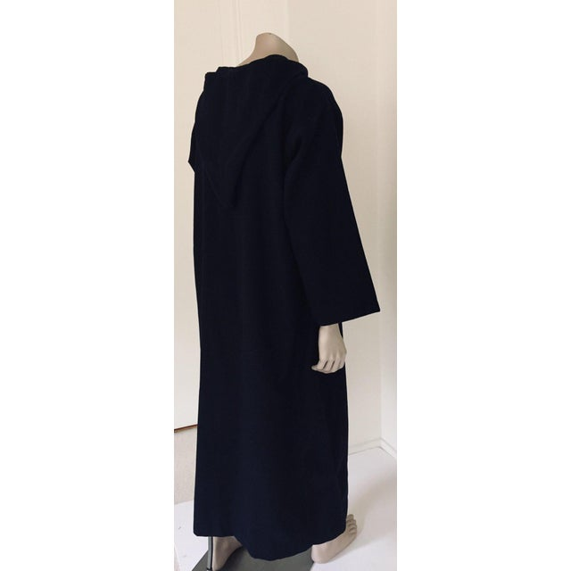 Blue Moroccan Gentleman Hooded Blue Wool Djellaba For Sale - Image 8 of 13