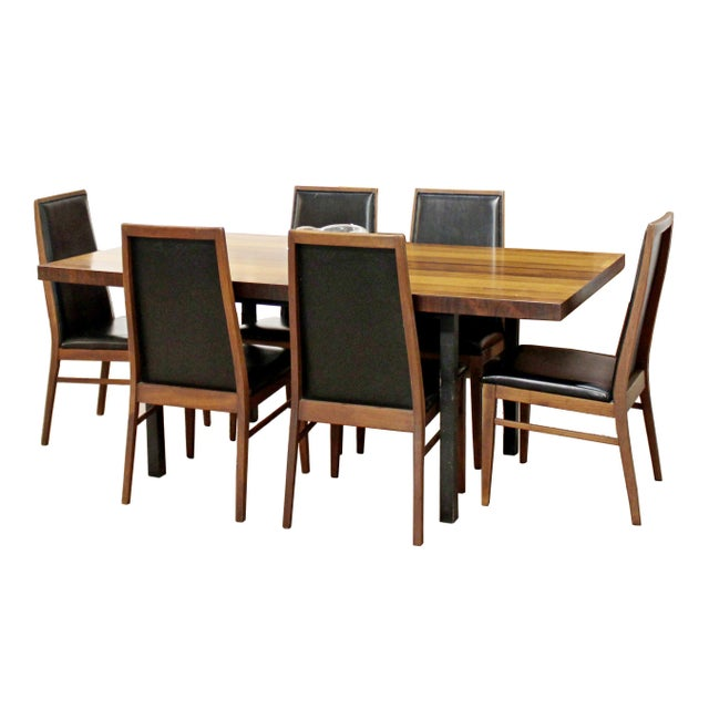 Mid Century Modern Milo Baughman Directional Dining Table Dillinghman 6 Chairs For Sale - Image 12 of 12
