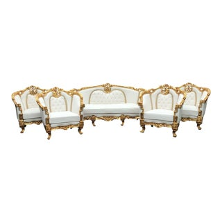 French Louis XVI Living Room Set - 5 Pieces For Sale
