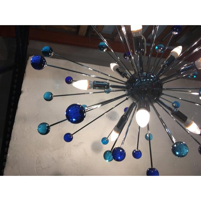 Murano Contemporary Murano Glass Triedo Sputnik Chandelier For Sale - Image 4 of 11