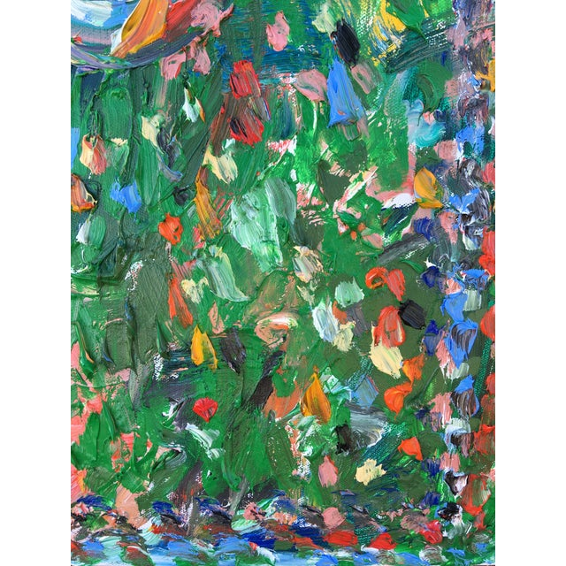 Abstract Abstract 'Green Gong' Oil Painting by Sean Kratzert For Sale - Image 3 of 4