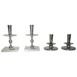 1950s Mid-Century Modern Tommi Parzinger Designed Candlesticks - Set of 4 For Sale