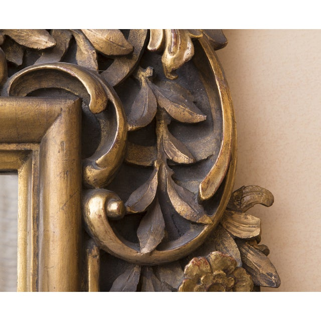 Carved Wood Mirror With Gilt Finish - Image 5 of 8