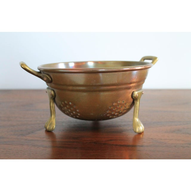 Copper VintageCopper Colander For Sale - Image 8 of 8