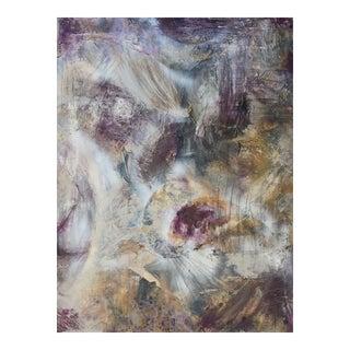 """Celestial"" Original Abstract Modern Purple Metallic Painting For Sale"
