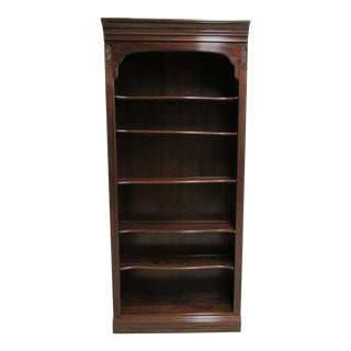 1990s Chippendale Ethan Allen Cherry Georgian Court Bookshelf For Sale