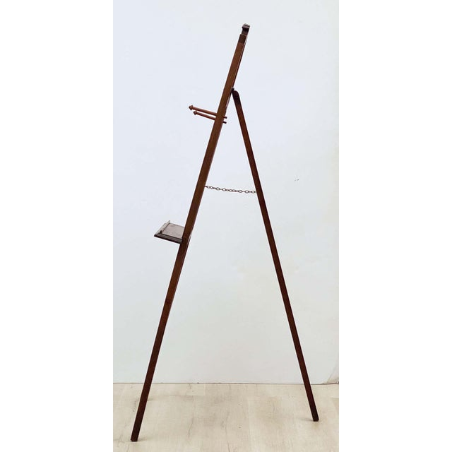 Metal English Artist's or Display Easel With Carved Wood Accents For Sale - Image 7 of 13