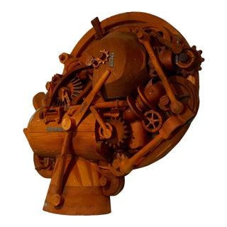 1960s Redwood Industrial Sculpture For Sale
