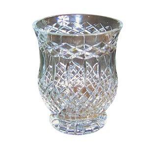 Irish Cavan Crystal Large Centerpiece Vase – Rare Pattern For Sale