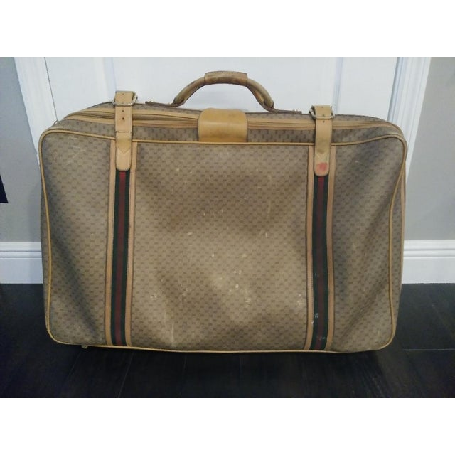 a98a978e5 Gucci Vintage Leather Signature Gg Luggage Suitcase For Sale - Image 12 of  12