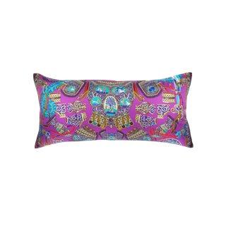 """""""Sous l'Egide De Mars"""" Hermès Silk Scarf Pillow For Sale"""