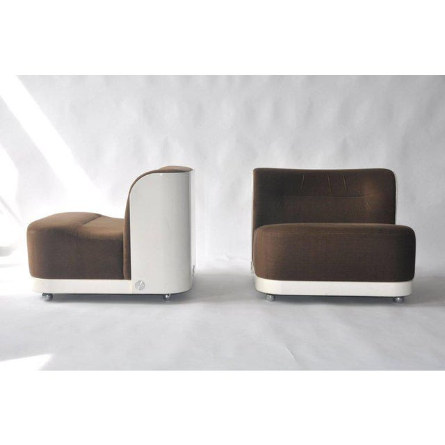 """Mid-Century Modern Pair of """"Trinom"""" Lounge Chairs by Peter Maly For Sale - Image 3 of 8"""