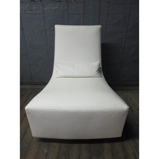 Ligne Roset Leather Lounge Chair and Ottoman by Ligne Roset For Sale - Image 4 of 10