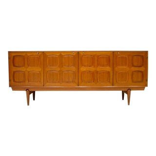 Graphic Teak Sideboard by Rastad & Relling for Bahus Norway 1960s For Sale