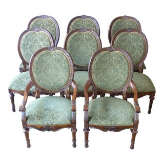 Drexel Heritage Louis XVI Style Oval Back Dining Chairs- Set of 8 For Sale
