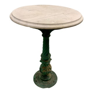 20th Century Traditional Marble Top Side Table/Garden Table For Sale