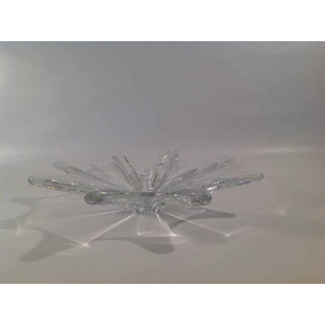 Traditional Baccarat Crystal Etched Accent Bowl For Sale - Image 3 of 7
