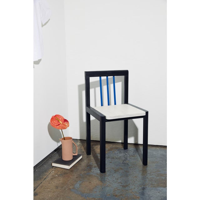 Black Steven Bukowski Contemporary Piano Chair in Lacquered Ash For Sale - Image 8 of 8