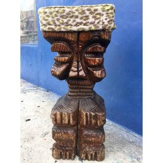 Rare Witco Midcentury Carved Tiki God Bar Stool Preview