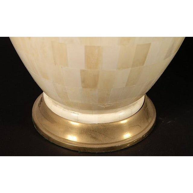 Modern 1970s Vintage Tessellated Bone Table Lamps - A Pair For Sale - Image 3 of 4