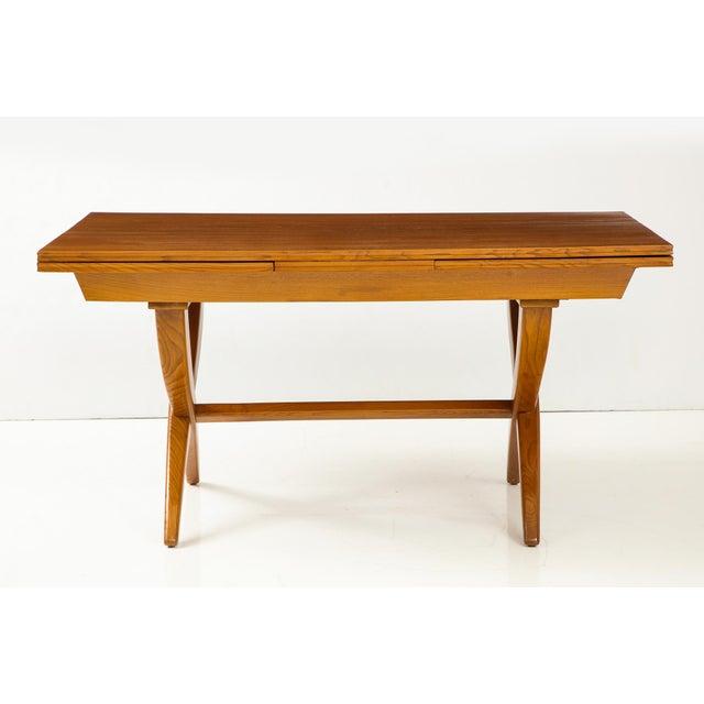 Mid-Century Modern Guglielmo Pecorini Extension Dining Table For Sale - Image 3 of 13