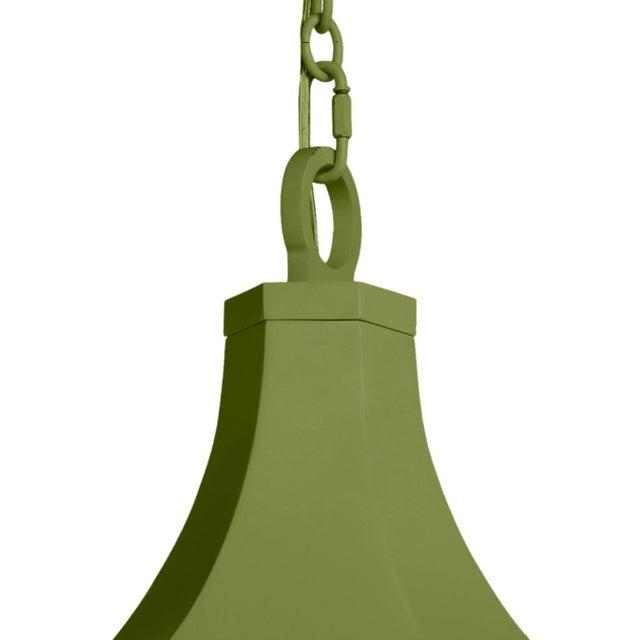 Traditional Bennington Lantern, Timson Green For Sale - Image 3 of 4