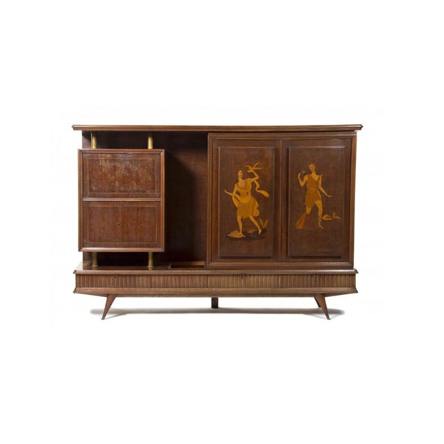 Illuminated Eugenio Diez Sideboard Cabinet For Sale - Image 13 of 13